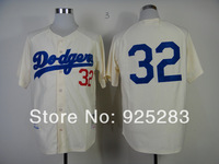 Free Shipping Cheap Los Angeles Dodgers Authentic 1955 #32 Sandy Koufax Throwback Home Baseball Jersey,Embroidery Logos