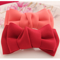 Diy gentlewomen brief double layer  hair accessory bowshoes accessories