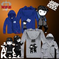Jabbawockeez hip-hop hiphop cardigan men's clothing autumn thin mask sweatshirt