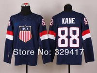 Free shipping!!! 2014 Sochi Olympics Ice Hockey Jerseys USA Team #88 Patrick Kane Jersey  Jersey Chicago Blackhawks