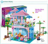 learning & education Banbao Princess series 8361 Sweet home 380pcs Building Block Set Girls Bricks Toy Lego compatible
