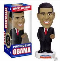 Funko Wacky Wobbler Bobble - Head 20cm President Obama Figure in New Box PVC Toys Free Shipping