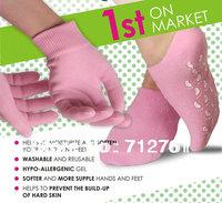 Hot - Quality Whiten Skin Moisturizing Treatment Gel SPA gloves and socks, washable and reusable,( (1pair glove+1pair socks)