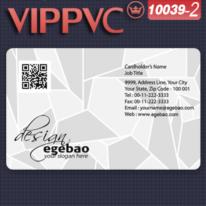 c10039-2 Transparent business card online printing services 85.5x54mmx0.36mm thickness(China (Mainland))