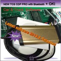 2015 latest software 2014.02  New TCS CDP Pro plus OKI Chip & Bluetooth , cars trucks ,high quality , 2PCS / LOT