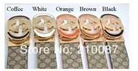 2013 New rotating belt buckle men and women fashion ecorated Reversible waistband