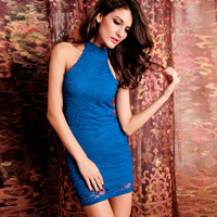 2014 hot ladies sexy dress fashion o-neck sexy dress sleeveless solid shesth style dress free shipping HF2636