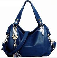 2014 New Arrived women leather handbags Quality Metal Genuine Leather Bag Shoulder Bag
