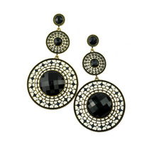 N-Z Fashion Jewelry Vintage New 2014 Women Dangle Earrings Long Round Pendant Statement Big Earring 7140