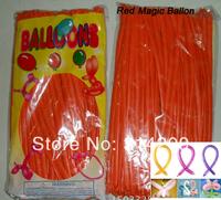 Free Shipping Wholesale 100pcs/lot Orange Wedding Birthday Party Decoration Magic Ballons Assorted Latex Long Balloon