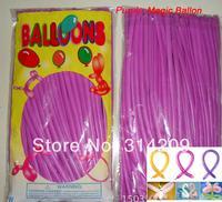 Free Shipping Wholesale 100pcs/lot Purple Wedding Birthday Party Decoration Magic Ballons Assorted Latex Long Balloon