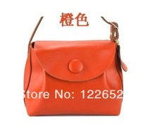 2014 female bag new type upscale spot button cowhide leather handbag free shipping B-43