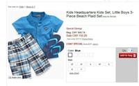 Drop shipping Turn-down Collar European and American original brand boys summer short-sleeved pants + t-shirt sets kidsquarters