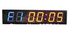 4 » характер мма WOD Crossfit таймер центр обучения спорт фитнес настенные часы интерьер программируемый круглый фитнес-упражнения