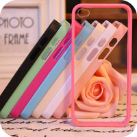 For apple    for iphone   4 4s 5 5s phone case mobile phone case protective case silica gel set transparent shell