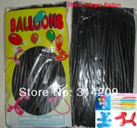 Free Shipping Wholesale 100pcs/lot Black Wedding Birthday Party Decoration Magic Ballons Assorted Latex Long Balloon