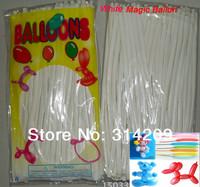 Free Shipping Wholesale 100pcs/lot White Wedding Birthday Party Decoration Magic Ballons Assorted Latex Long Balloon