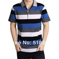 2014 Hot selling t shirt men fashion casual shirt short sleeve men's t shirts brand stripe tom free shipping wholesale