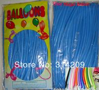 Free Shipping Wholesale 100pcs/lot Blue Wedding Birthday Party Decoration Magic Ballons Assorted Latex Long Balloon