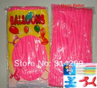 Free Shipping Wholesale 100pcs/lot Pink Wedding Birthday Party Decoration Magic Ballons Assorted Latex Long Balloon