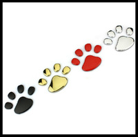 Metal Bear's Paw, bear claw emblem 3D car side door window front rear leaves board sticker, bear lovely adhesive sticker