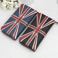 Fashion Female Long Design  Torx Flag Vintage Zipper Female Wallet