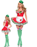 Cute strawberry red dress maid role playing sex costumes dress 9316-2 , free shipping