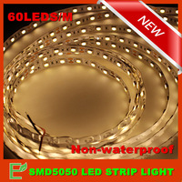 Free Shipping! 5m/300leds 12V SMD5050 Flexible Non-Waterproof Led Strip Light White/Warm White/Red/Green/Blue/Yellow  60leds/m