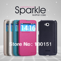 Nillkin Brand Sparkle Series Luxury pu leather Flip Case For LG G Pro Lite, With Retail box, 50pcs/lot DHL Freeshipping