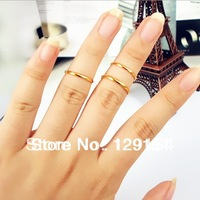 Fashion Jewelry Wholesale Polished Gold / Silver Plated Woman's Rings 4 Size 100 pieces/lot Free Shipping