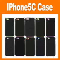 2 in 1 Removable Dull Polish Silica Gel Case Soft with Hard Case for iPhone5C iPhone 5C Silicon + Frosted Back Cover Case