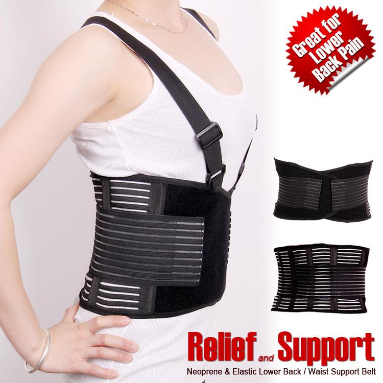 Breathable waist brace relief back pain adjustable elastic waist support belt lumbar protector brace(China (Mainland))