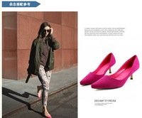 New arrival all-match pointed toe high-heeled shoes elegant women's thin heels shoes ol sexy shoes with the single shoes