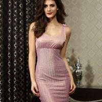 2014 nightclub Sleeveless silver slim thin women vest dress women's evening dress free shipping HF2829