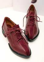 2 Colors ! Free Shipping Drop shopping Quality PU Pointed Toe Fashion 2014 Oxfords for Women