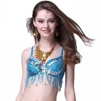 Belly dance silver bra bras dance top beaded bodice