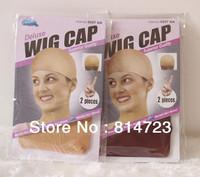 Free shiping 3 colors skin color dark brown black Wholesale 2pcs/pack 12packs/lot Net/ Mesh /Hairnets/ wig cap wig wearing 20pcs