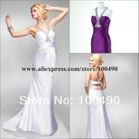 P1643 Accenting beaded straps silk satin evening dresses from dubai classic and stunning slinky satin dress