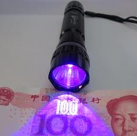 High power 5w ultraviolet money detector flashlight uva vitalight lamp scorpion amber neon agent