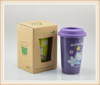 4pcs! Hello Kitty Pattern Ceramic Mug Starbucks Wind Type Coffee Cup Purple Color Free Shipping