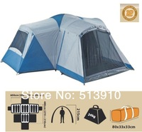 12persons 3bedrooms and one living room outdoor double layer big party camping tent original export to Australia