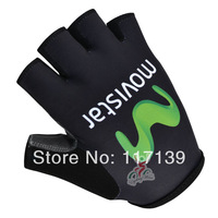 NEW! 2014 movistar Team Red&Blue Cycling Half Finger Gloves/Cycling Wear/Cycling Clothing-movistar-1S Free Shipping
