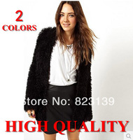fashion women clothes 2014 brand autumn Plush Medium-long womens jackets and coats Long-sleeve Outerwear#0125