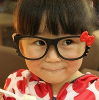 E03 colored glasses for children children glasses bow kitty cat