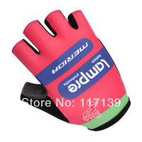 NEW! 2014 lampre Team Red&Blue Cycling Half Finger Gloves/Cycling Wear/Cycling Clothing-lampre-1S Free Shipping