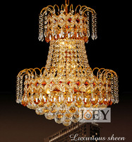 Taditional crystal pendant European style Palace light Fixture Egypt crystal Gold Luxury Hotel chandelier Guaranteed 100%+Free