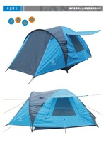 Outdoor tent 3 - 4 double layer camping tent outdoor double