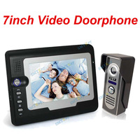 7 Inch Colorful Night Vision Video Door Phone 1to1 Intercom Systems