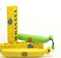 Rain Gear Folding Umbrellas childrens semi  automatic  sunny rainy Bananas umbreells Fashion gifts