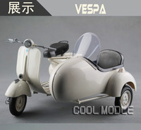 NEW RAY-48993 1955 VESPA 150 VL 1T MOTORCYCLE SCOOTER WITH SIDE CAR 1/6 WHITE